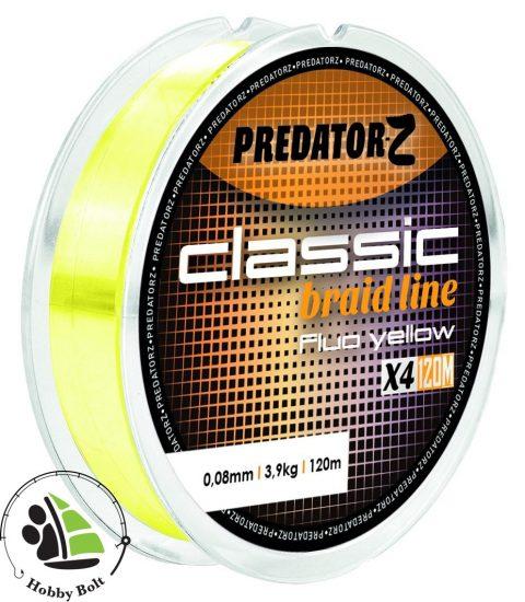 Predator-Z Classic fonott zsinór fluo sárga